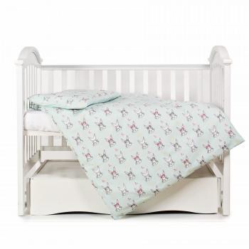 Сменная постель 3 эл Twins Premium Glamour Limited 3064-PGNEWR-014, Кролики mint, мятный