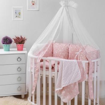 Постельный комплект 8 эл Twins Dolce Лесные жители 4063-D-013, pink, розовый