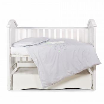 Сменная постель 3 эл Babycentre & Twins Moonlight 4011-ZBTMO-010, grey, серый