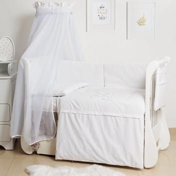 Постельный комплект 8 эл Twins Dolce Loving bear 4062-D-010, white, белый