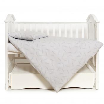 Сменная постель 3 эл Twins Premium Glamour Limited 3064-PGNEW-10, star, серый