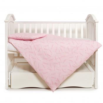 Сменная постель 3 эл Twins Premium Glamour Limited 3064-PGNEWC-08, star, розовый
