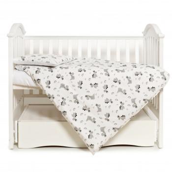 Сменная постель 3 ел Twins Premium Glamour Limited 3064-PGNEWZ-010, Dino, белый/серый