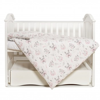 Сменная постель 3 эл Twins Modern New 3040-PMN-01, Animals pink, серый/розовый