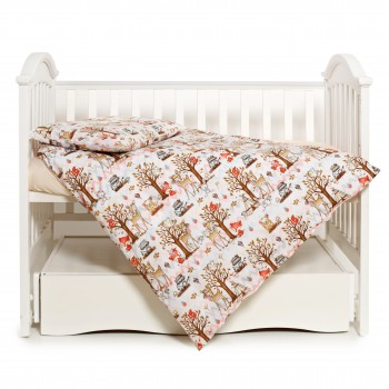 Сменная постель 3 эл Twins Modern New 3040-PMN-18, Indian friends, белый/оранжевый