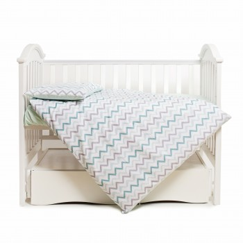 Сменная постель 3 эл Twins Happy 3033-TH-30014, wave mint, м