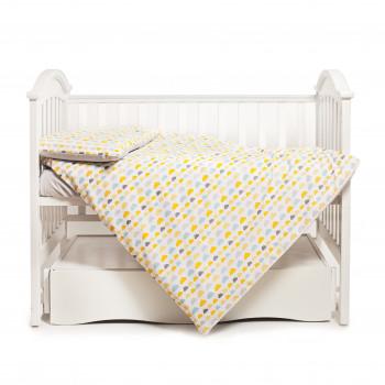 Сменная постель 3 эл Twins Happy 3033-TH-30205, Clouds yellow, сірий/жовтий