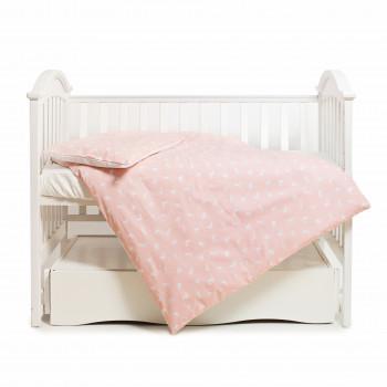 Сменная постель 3 эл Twins Happy 3033-TH-30308, rabbits pink, білий/рожевий