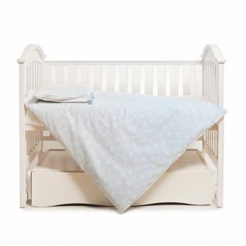 Сменная постель 3 эл Twins Happy 3033-TH30314, rabbits mint, білий/мятний