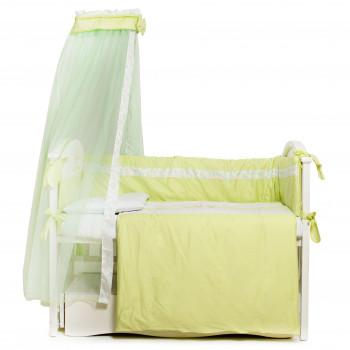 Постельный комплект 7 эл Twins Kids 4080-A-025-06, green, белый/зеленый