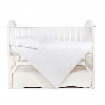Сменная постель 3 ел Twins Classiс (сатин) 3055-TC-01, white, білий