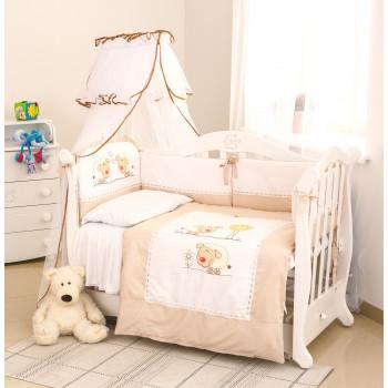 Постельный комплект 6 эл Twins Evo Овечки 4073-A-030, beige, белый / беж