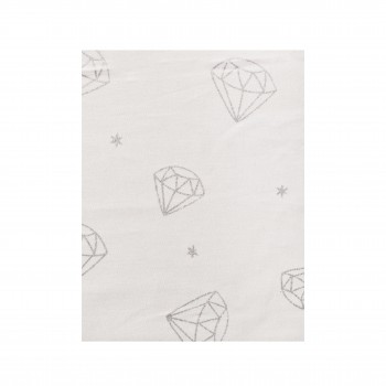 Простыня на резинке Twins Dolce Insta 120x60 бязь 6060-DI-01ds, Бриллиант серебро, белый