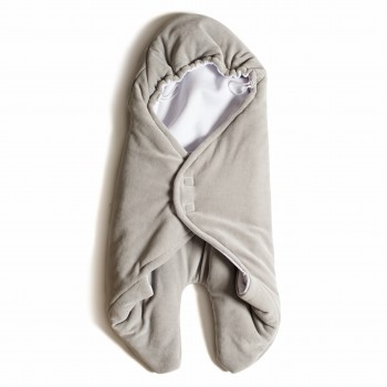 Конверт - обнимашка Twins велюр 9011-TO-10, grey, серый