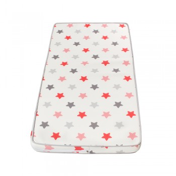 Матрас Twins 3D Stars 120х60х10 5000-253DS, coral, белый / розовый