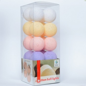 Гирлянда - ночник Cottonballlight 35 шариков в коробке Baby Set, мультиколир