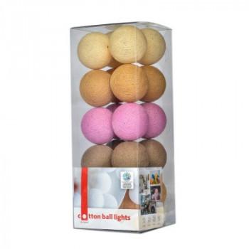 Гирлянда - ночник Cottonballlight 35 шариков в коробке Caramel, розовый