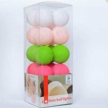 Гирлянда - ночник Cottonballlight 20 шариков в коробке Early Spring, мультиколир