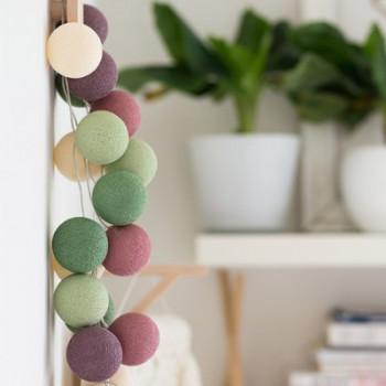 Гирлянда - ночник Cottonballlight 20 шариков в коробке Forest Fruit, розовый дым