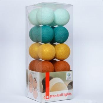 Гирлянда - ночник Cottonballlight 20 шариков в коробке Golden Breeze, мультиколир