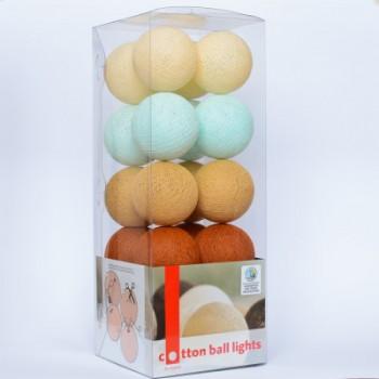 Гирлянда - ночник Cottonballlight 20 шариков в коробке Indian Summer, мультиколир