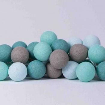 Гирлянда - ночник Cottonballlight 20 шариков в коробке mint