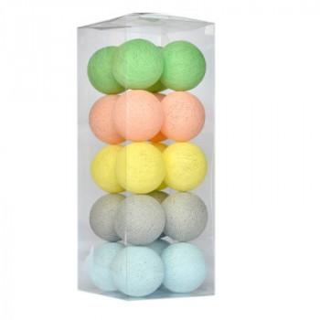 Гирлянда - ночник Cottonballlight 20 шариков в коробке Softy, мультиколир