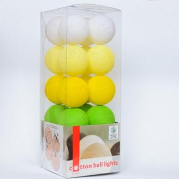 Гирлянда - ночник Cottonballlight 20 шариков в коробке Sun Grass, салатовый