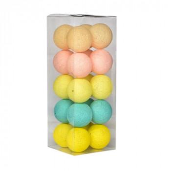 Гирлянда - ночник Cottonballlight 20 шариков в коробке Tender Stars, мультиколир