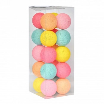 Гирлянда - ночник Cottonballlight 20 шариков в коробке Tutti Frutti, мультиколир