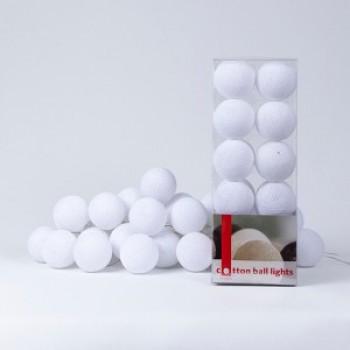 Гирлянда - ночник Cottonballlight 20 шариков в коробке White, белый