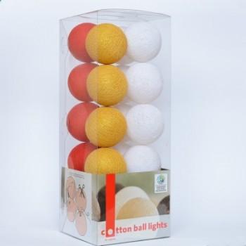 Гирлянда - ночник Cottonballlight 20 шариков в коробке Christmas, зеленый