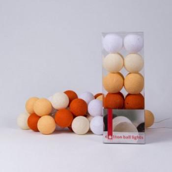 Гирлянда - ночник Cottonballlight 35 шариков в коробке orange, оранжевый
