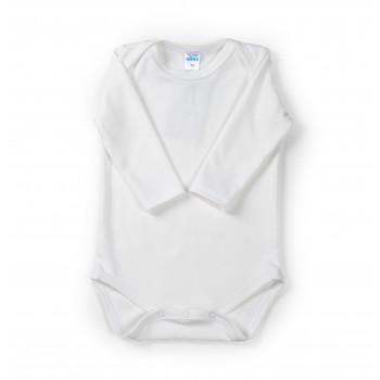 Боди с длинным рукавом белого цвета для детей 0-3