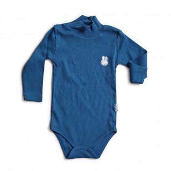 Боди с длинным рукавом синего цвета для детей от 1 года