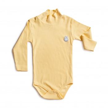 Боди с длинным рукавом желтого цвета для детей от 3 лет