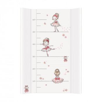 Пеленальная доска Cebababy 50x70 Basic line W-200-091-138, Прима балерина в танце, белый / розовый
