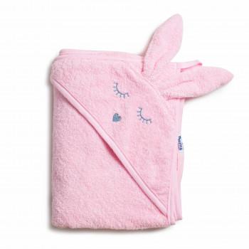 Полотенце Twins Rabbit 100x100 1500-TANК-08, pink, світло рожевий