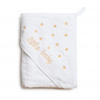 Полотенце Twins Little Baby (вышивка) 1520-TLB-02, beige, білий/беж
