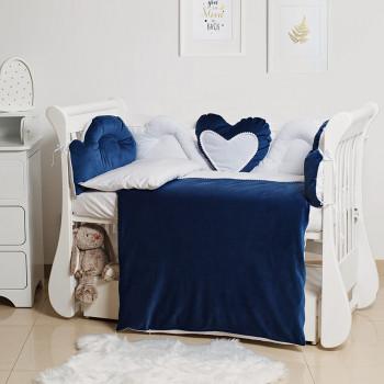 Постельный комплект 6 эл Twins Romantic Heart 4024-R-009-09, blue, синий