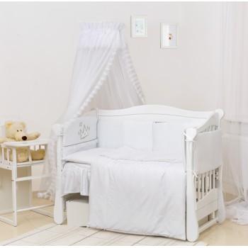 Постельный комплект 7 эл Twins Romantic Vintage Baby 4024-R-004, white, белый