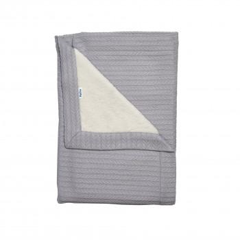 Плед Twins Pastel nude 100х100 1407-TP-10 grey, светло серый