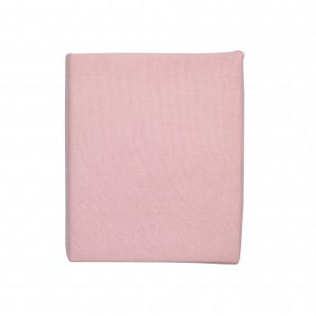 Простыня на резинке Twins 120x60 Soft Organic (фланель премиум) 6030-TSO-24, powder pink, пудра