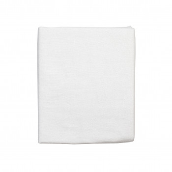 Простыня на резинке Twins 120x60 Soft Organic (фланель премиум) 6030-TSO-01, white, белый