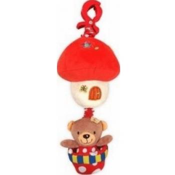 Плюшевая подвеска музыкальная Baby Mix P / 1116-2981 Мишка на шаре девочка P / 1116-2981, mix, мультиколир