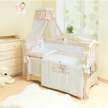 Бампер Twins Evo Лето сатин / аппликация 2073-A-015, white / beige, белый / беж