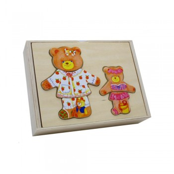Деревянная рамка Мишка Baby Mix WTS-92-H0168 WTS-92-H0168, Мишка, бежевый