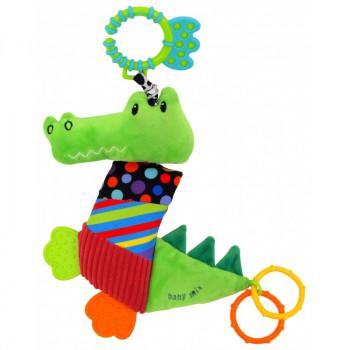 Плюшевая подвеска с вибро Baby Mix TE-8567-33 Крокодил TE-8567-33, mix, мультиколир