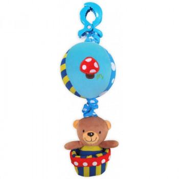 Плюшевая подвеска музыкальная Baby Mix P / 1116-3181 Мишка на шаре мальчик P / 1116-3181, mix, мультиколир