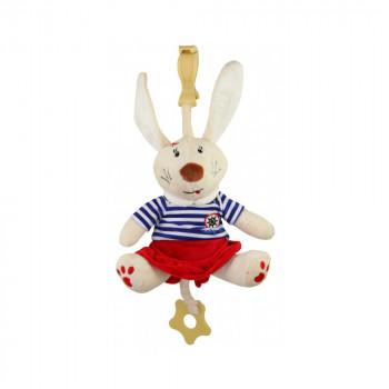 Плюшевая подвеска музыкальная Baby Mix STK-16390 Кролик STK-16390B, boy, белый / синий